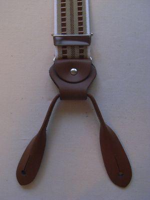 Hosenträger Typ 2 Beige- Braun gemustert