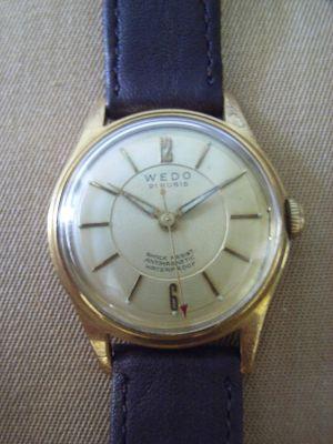 Herren Armbanduhr, frühe 1950er Jahre, Hersteller Wedo - Uhr 8