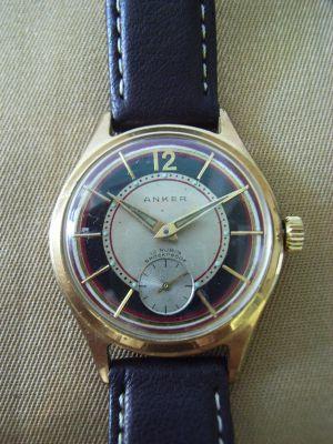 Herren Armbanduhr, frühe 1950er Jahre, Hersteller Anker - Uhr 9