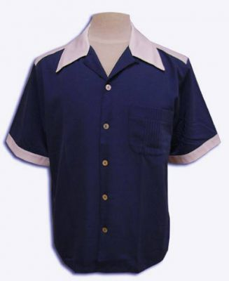 Twotone-Shirt Hollywood - Blau/Weis
