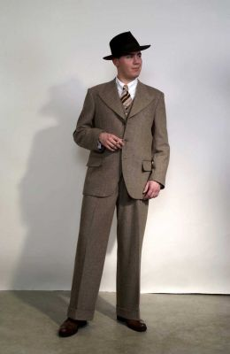 Anzug, Modell 1935 Fischgrat