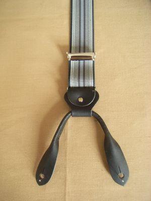 Hosenträger - Typ 2 Grau/Schwarz