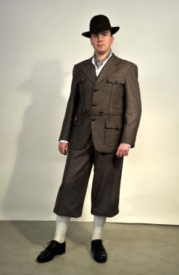 Sportanzug, Modell 1936 - Dreiteilig, Tweed.