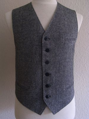 Herren Weste Modell 1938 , Tweed, Pfeffer & Salz.
