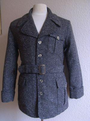 Deutsches Langjacke 1938 Typ 2, grober Fischgrat Braun