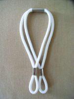 Gummischlaufen - Weiß, 3 Stück
