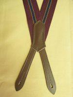 Hosenträger Typ 4 Farbe : Bordeaux / Schwarz gestreift