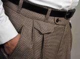 Anzug, Modell 1930 Spitzfasson, Feintweed Braun meliert.