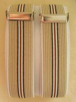 Ärmelhalter - Typ 25/1 Beige / Braun gestreift