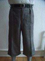 Knickerbockerhose Modell 1938, grober Tweed Pfeffer & Salz.