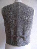 Herren Weste Modell 1938 , Tweed Brauntöne meliert.