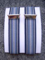 Ärmelhalter - Typ 4 Weis / Blautöne/gestreift